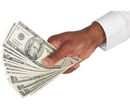 Mana cu dolari