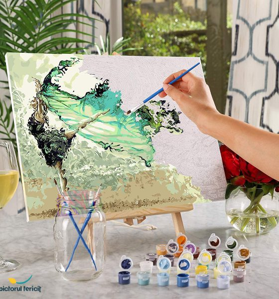 pictura pe numere freedom pictorul fericit